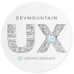 DevMountain Certification Badge for UX Design